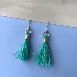 Jewelry - Handmade Tassel Earrings in Turquoise